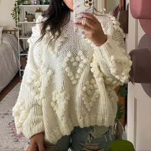 Oversized Heart Sweater